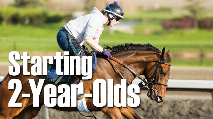 Thumbnail for Starting 2-Year-Old Racehorses is a Delicate Business