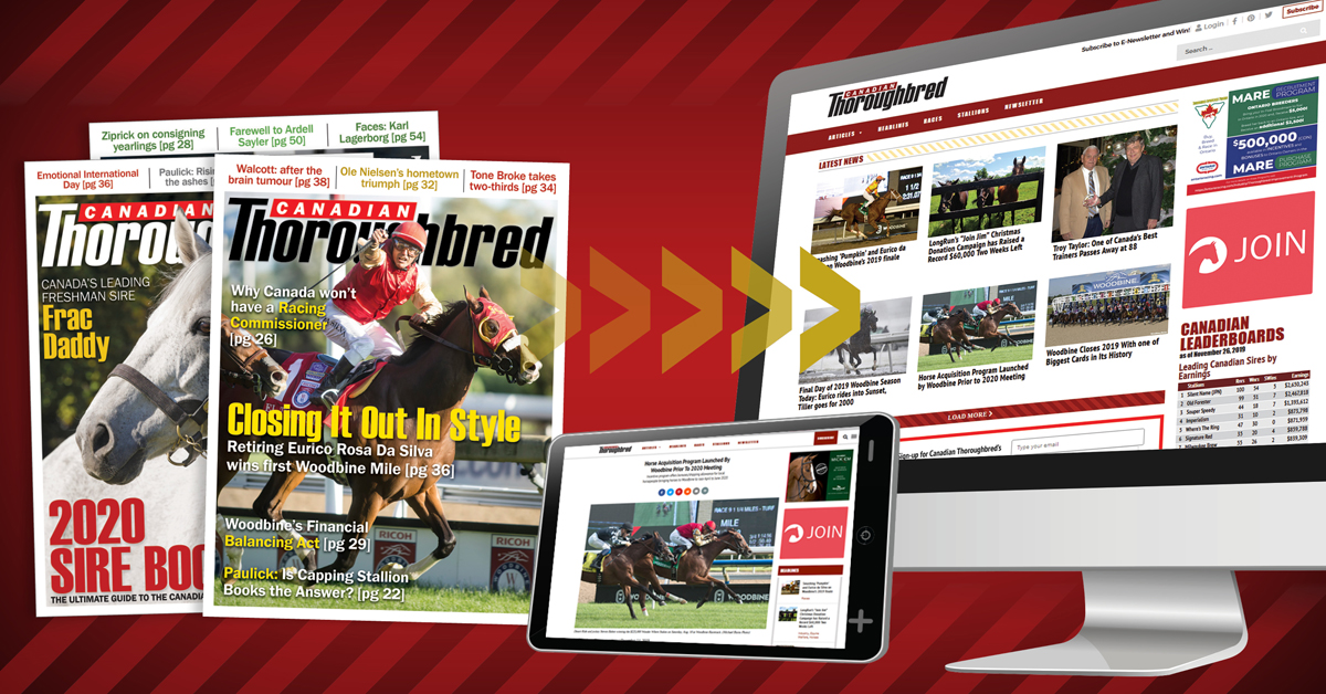 Thumbnail for Canadian Thoroughbred Magazine Goes Digital Only in 2020