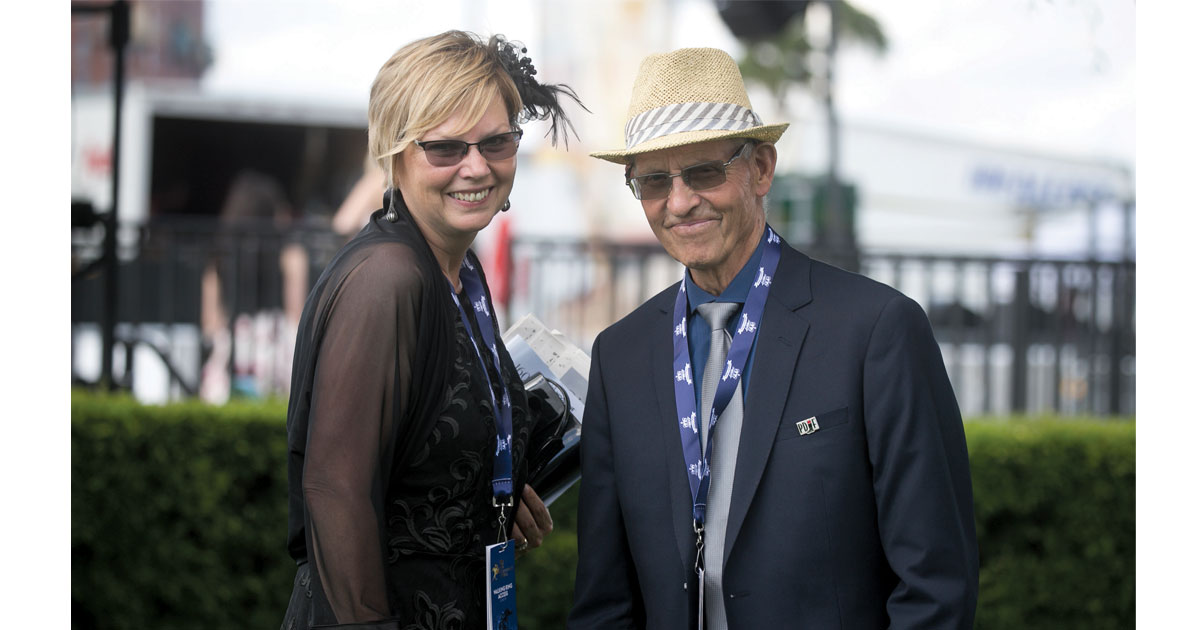 Deb Ehrat and Ron Clarkson at the Queen's Plate. (Dave Landry photo)