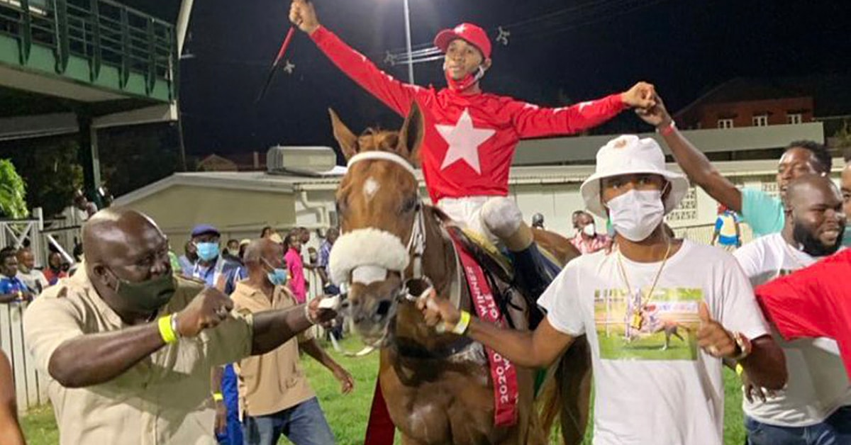 Thumbnail for Delano Lopez, Son of Simon Husbands, Rides Barbados Derby Winner