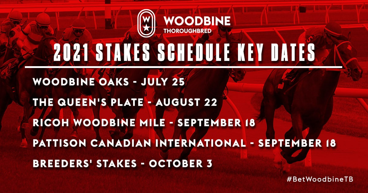 Thumbnail for 2021 Stakes Schedule at Woodbine Includes Pattison Int'l, Highlander