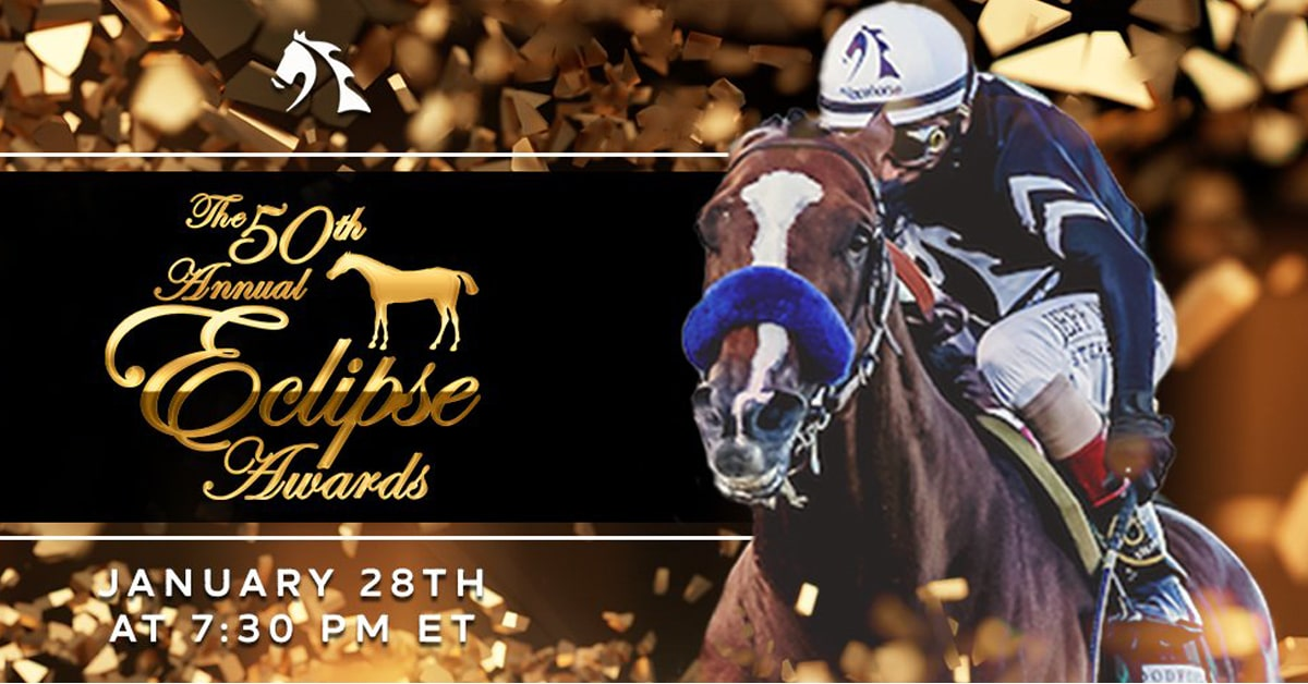Thumbnail for Eclipse Awards to be Shown Virtually on Thursday, Jan. 28