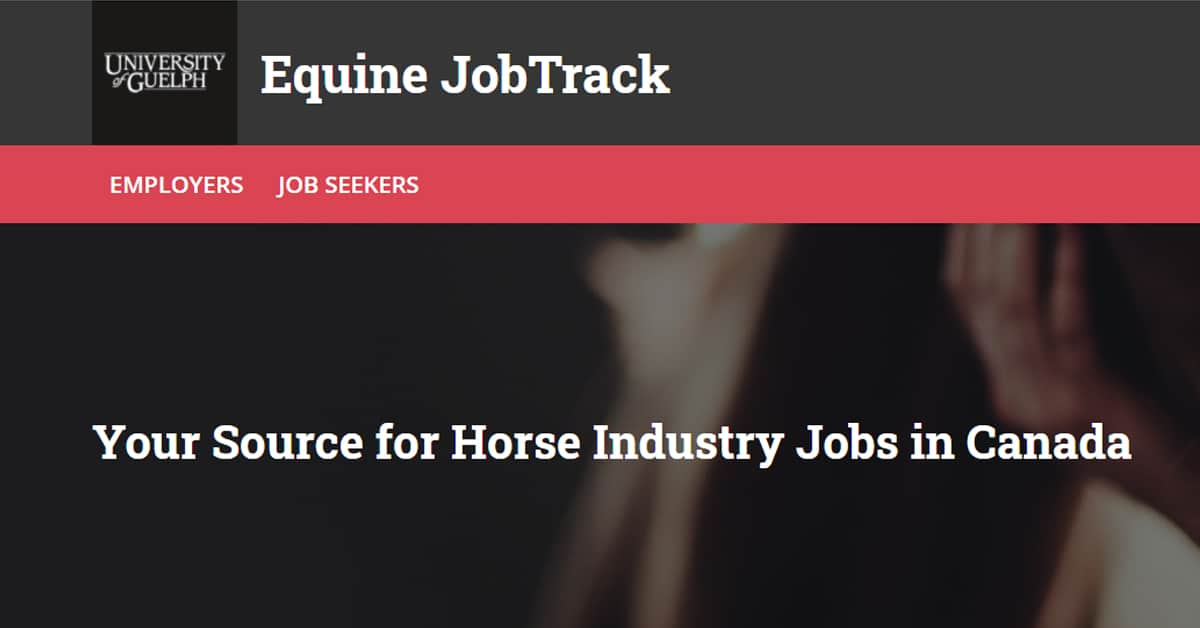 Thumbnail for Equine Guelph Relaunches JobTrack Online Service